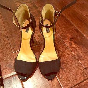 Zara open toe classy black heels